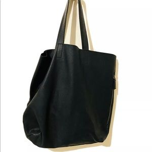 Leather Tote Banana Republic Tote Bag (BLK)